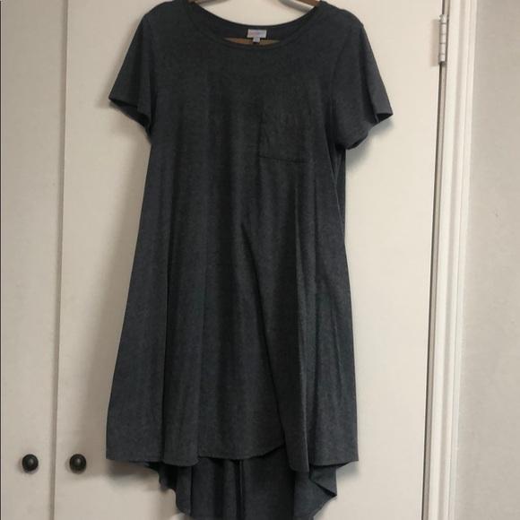 LuLaRoe Dresses & Skirts - Lularoe Carly - heather grey-purple